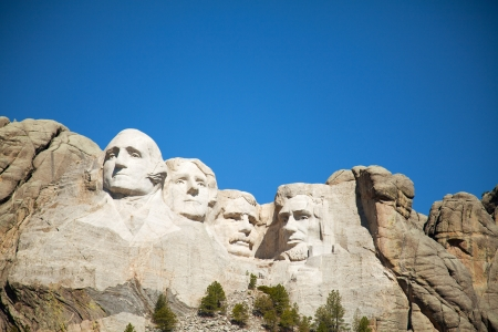 Mount Rushmore monument in South Dakota in the morning Editorial