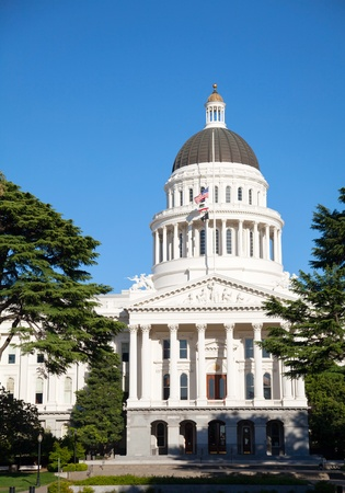 legislator: Capitol building in Sacramento, California on the sunny day