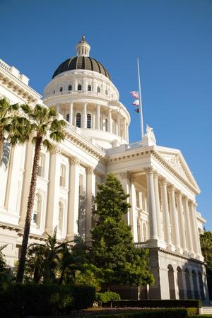 Capitol building in Sacramento, California on the sunny day