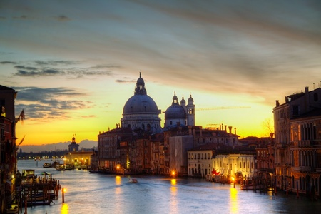 Basilica Di Santa Maria della Salute at sunrise photo