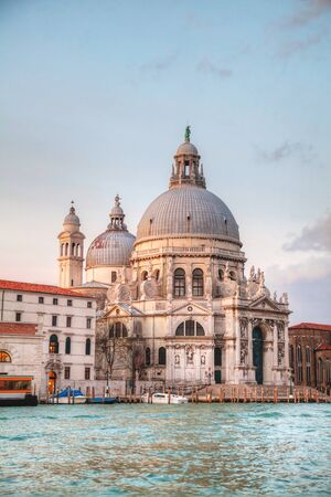 Basilica Di San Giogio Maggiore in Venice at sunrise photo