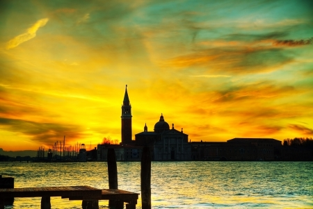 Basilica Di San Giogio Maggiore in Venice at sunrise Stock Photo - 17072989