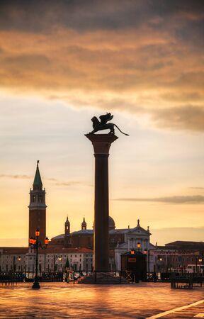 Basilica Di San Giogio Maggiore in Venice at sunrise