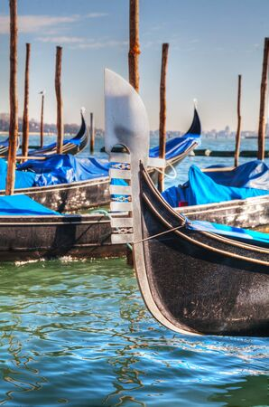Gondola floating in the Grand Canal in Venice on a sunny day Stock Photo - 17073086