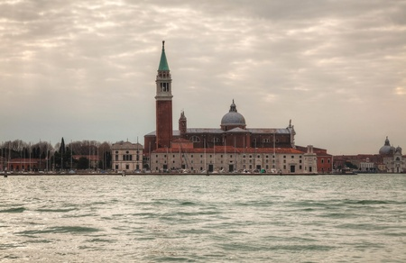 Basilica Di San Giogio Maggiore in Venice on a cloudy day Stock Photo - 17184884