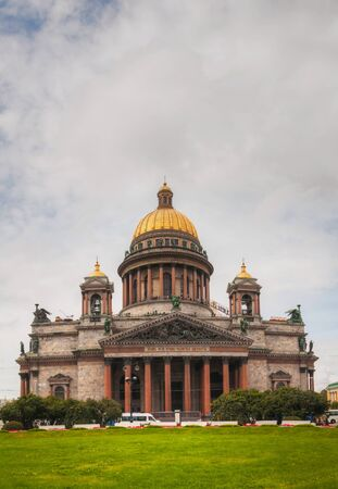 Saint Isaacs Cathedral (Isaakievskiy Sobor) in Saint Petersburg, Russia in the morning photo