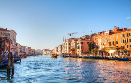 View to Grande Canal in Venice, Italy in the morning Stock Photo