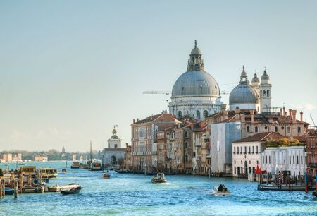 View to Basilica Di Santa Maria della Salute on a sunny day photo