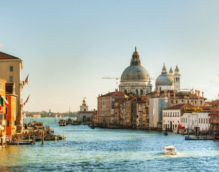 Panoramic view of Basilica Di Santa Maria della Salute on a sunny day photo