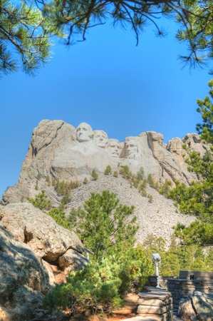 Mount Rushmore monument in South Dakota in the morning Stock Photo - 17465506