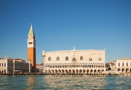 San Marco square in Venice, Italy as seen from the lagoon Stock Photo - 17467311