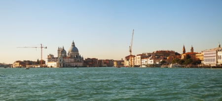Panoramic overview of Venice as seen from the lagoon photo
