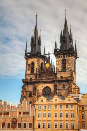 Church of Our Lady before Tyn in Prague 版權商用圖片