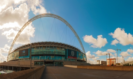 venue: LONDON - MAY 20: Wembley stadium on May 20, 2012 in London, UK. This 90,000-capacity venue is the second largest stadium in Europe, and serves as Englands national stadium.