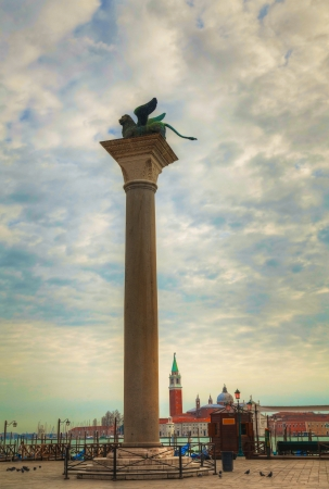 San Marco square in Venice, Italy early in the morning photo