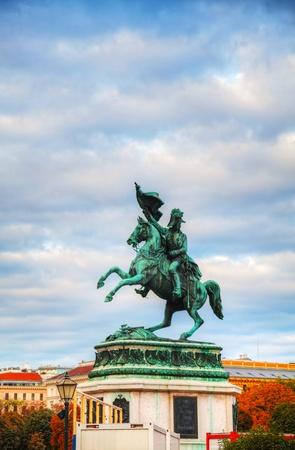 archduke: Monument dedicated to Archduke Charles of Austria (Erzherzog Karl) in Vienna