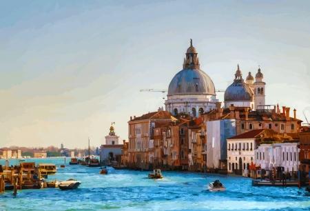 салют: Вид на базилику Санта-Мария делла Салюте Иллюстрация