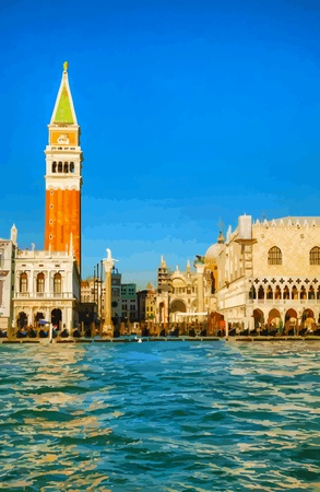 San Marco square in Venice, Italy Stock Vector - 18099454