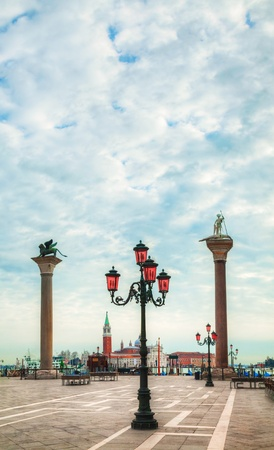 San Marco square in Venice, Italy in the morning photo
