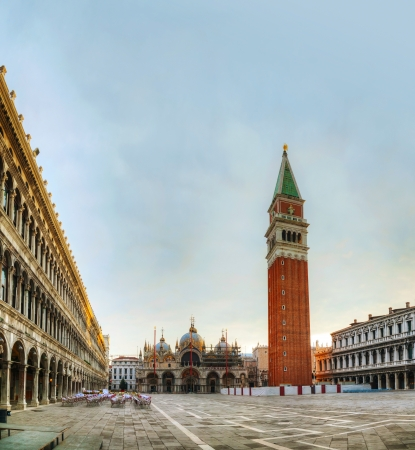 San Marco square in Venice, Italy early in the morning Editorial