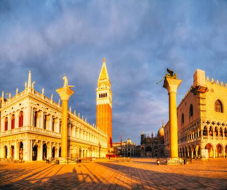 Panoramic view to San Marco square in Venice, Italy early in the morning Stock Photo - 18222641