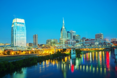 Downtown Nashville early in the morning photo