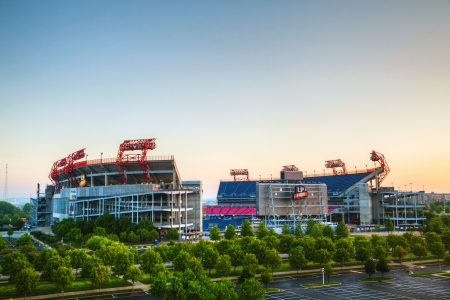titans: NASHVILLE - APRIL 29: LP Field early in the morning in Nashville on April 29, 2013. The stadium is the home field of the NFLs Tennessee Titans and the Tennessee State University Tigers. Editorial