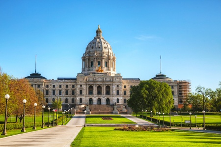 Minnesota capitol building in St. Paul, MN in the morning Editoriali