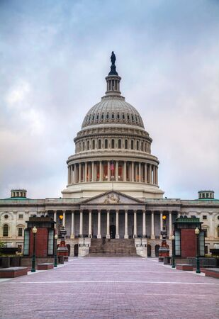 United States Capitol building in Washington, DC in the morning