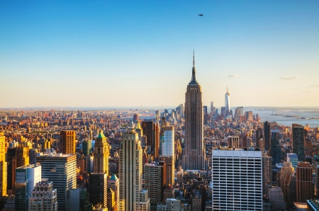 midtown manhattan: New York City cityscape on a sunny day Stock Photo