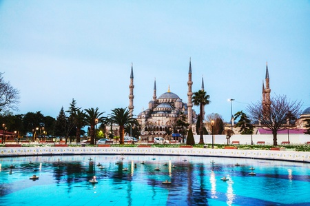 Sultan Ahmed Mosque (Blue Mosque) in Istanbul in the morning Фото со стока