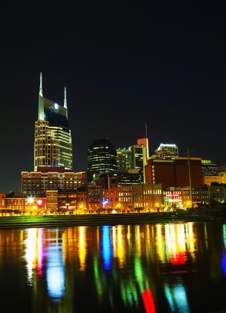 tn: Downtown Nashville, TN in the evening