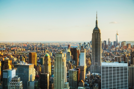 New York City cityscape on a sunny day Editorial