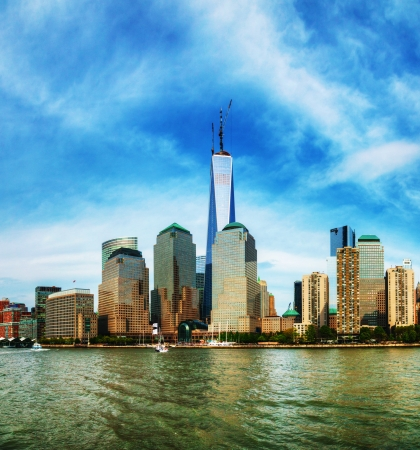 New York City cityscape panorama on a sunny day photo