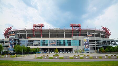 titans: NASHVILLE - MAY 2: LP Field early in the morning in Nashville on May 02, 2013. The stadium is the home field of the NFLs Tennessee Titans and the Tennessee State University Tigers. Editorial