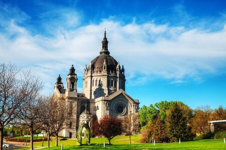 st: Cathedral of St. Paul, Minnesota in the morning