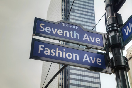 seventh: Seventh avenue sign in New York City Editorial