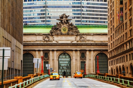 old new york: Grand Central Terminal viaduc and old entrance in New York