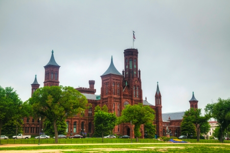 castle district: Smithsonian Institution Building (the Castle) in Washington, DC in the morning Editorial