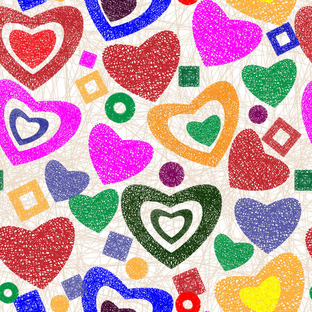 romance: Valentine day seamless background pattern with the hearts