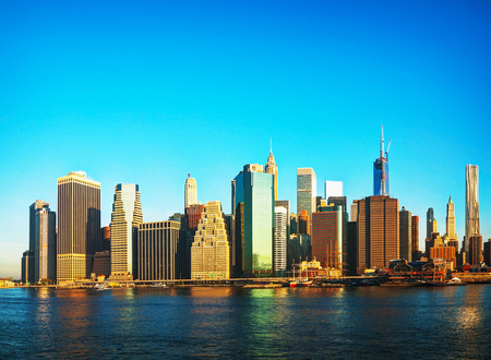 New York City cityscape on a sunny day photo