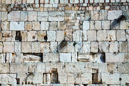 wailing: Rocks of the Wailing wall close up in Jerusalem, Israel Stock Photo