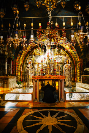 sepulcher: Interior of the Church of the Holy Sepulcher Editorial
