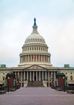 legislative: United States Capitol building in Washington, DC in the evening Stock Photo