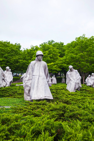 WASHINGTON, DC - MAY 9: Korean Veterans Memorial on May 9, 2013 in Washington, DC. It honors U.S. service members of the U.S. armed forces who fought in the Korean War.