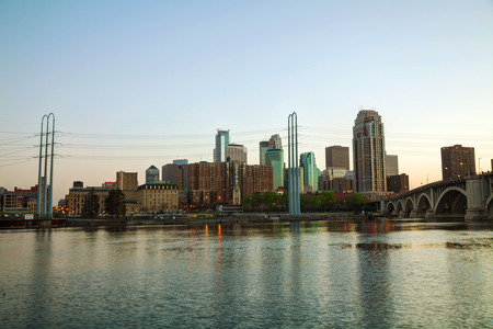 Downtown Minneapolis, Minnesota in the evening photo