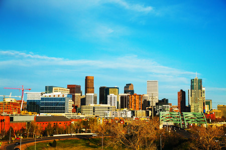 capital of colorado: Downtown Seattle cityscape in the morning