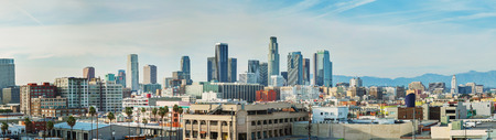 Los Angeles cityscape panorama on a sunny day photo