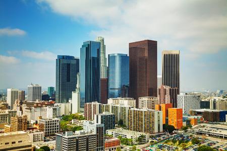 晴れた日にロサンゼルスの街並み