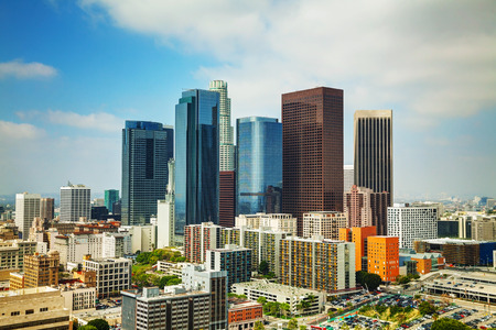 Los Angeles cityscape on a sunny day photo